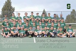 2017 Summit tennis team